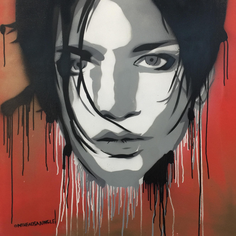 MOLKO aerosol + stencil on canvas
