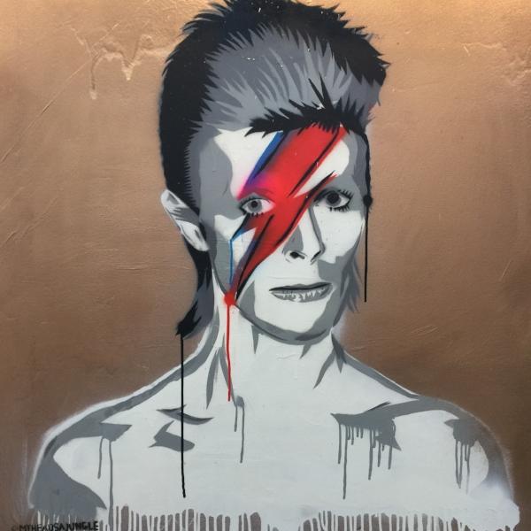 ZIGGY aerosol + stencil on canvas, 1.2m x 1.2m, $850