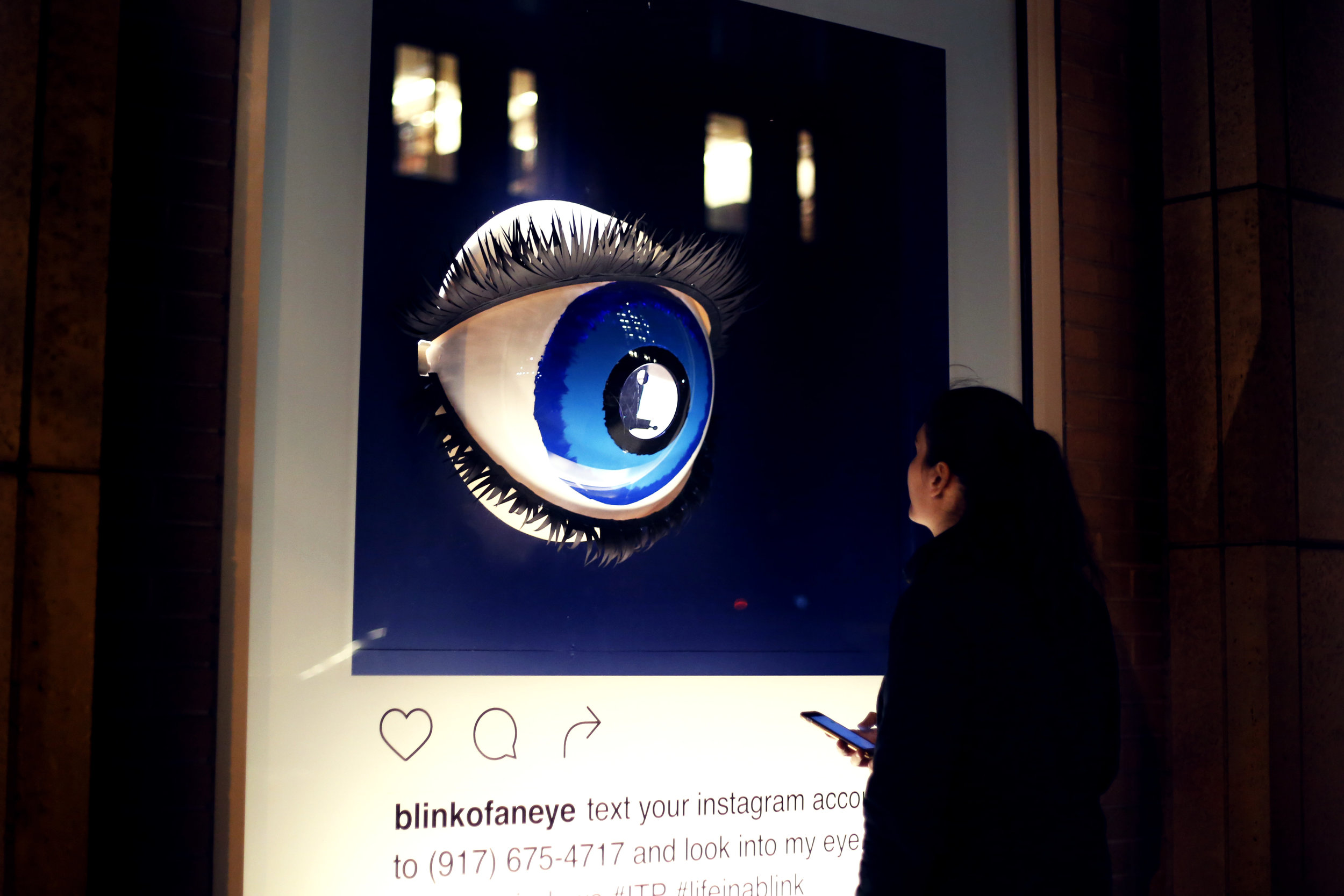 Blink of an Eye - interactive window displays