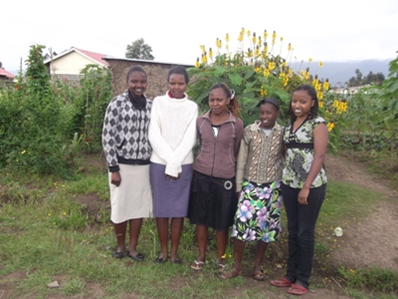Some of the Wanjohi Farm high school graduates.