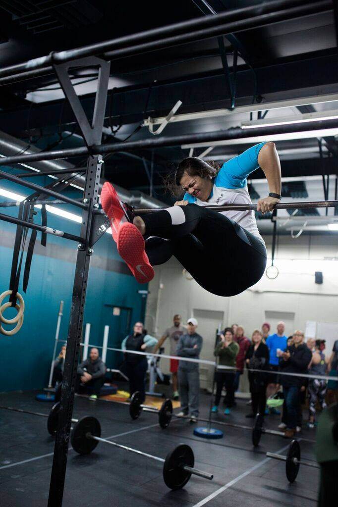 A Ballard CrossFit athlete's first bar muscle up was achieved during the 2016 Open!