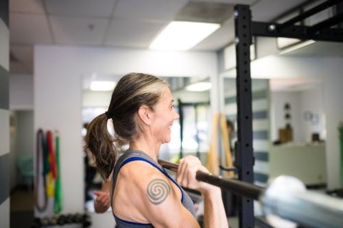 Michelle is an athlete at    Twenty Pound Hammer