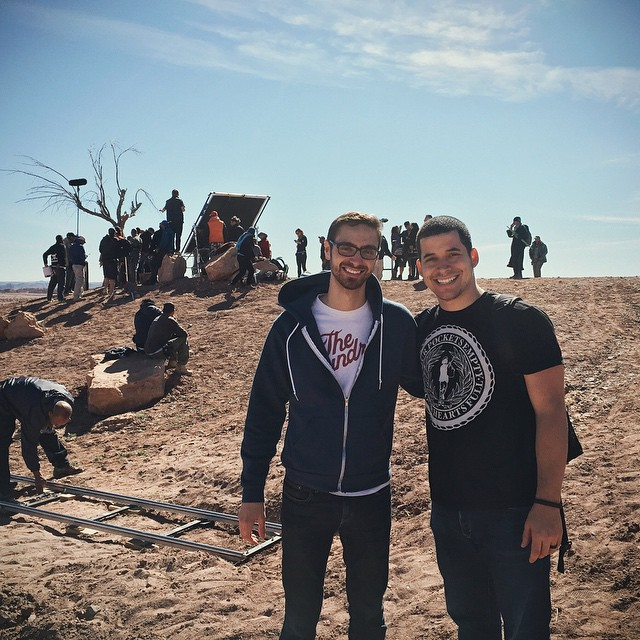 "Jefferson Bethke and I in Morocco on the set of NBC's ""A.D."""