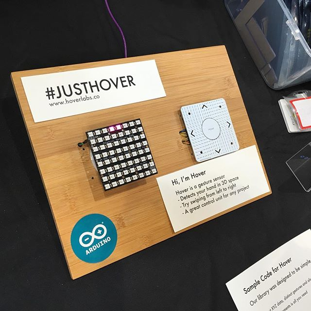 And it's up! Our full example of Hover + @adafruit neoMatrix is now shared on our site and @instructables. #arduino #justhover #electronics #adafruit #instructables #gestures #feeltheforce