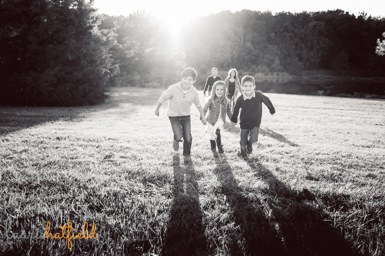 family photo in field