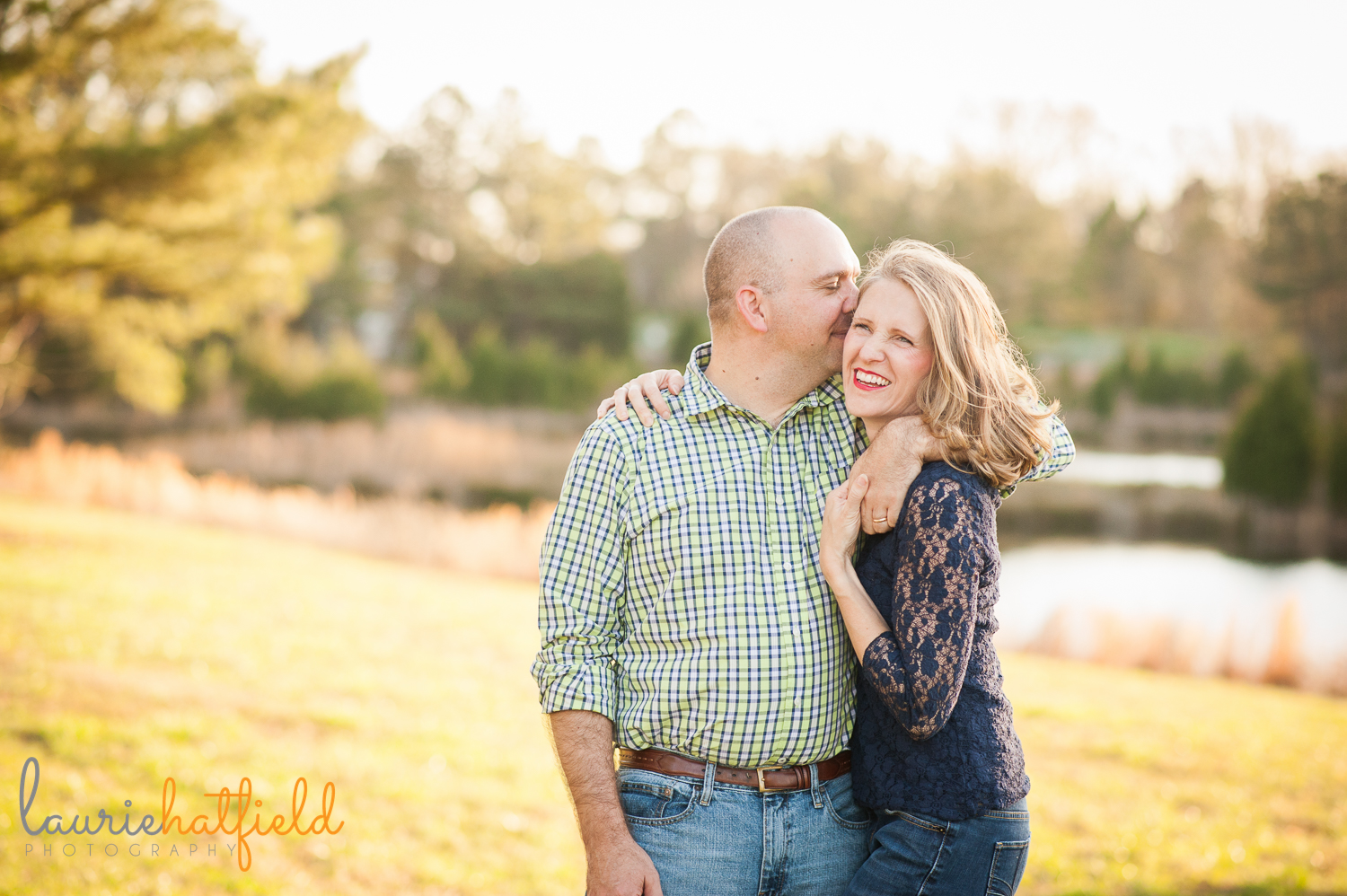 mom and dad smiling {huntsville photographer}