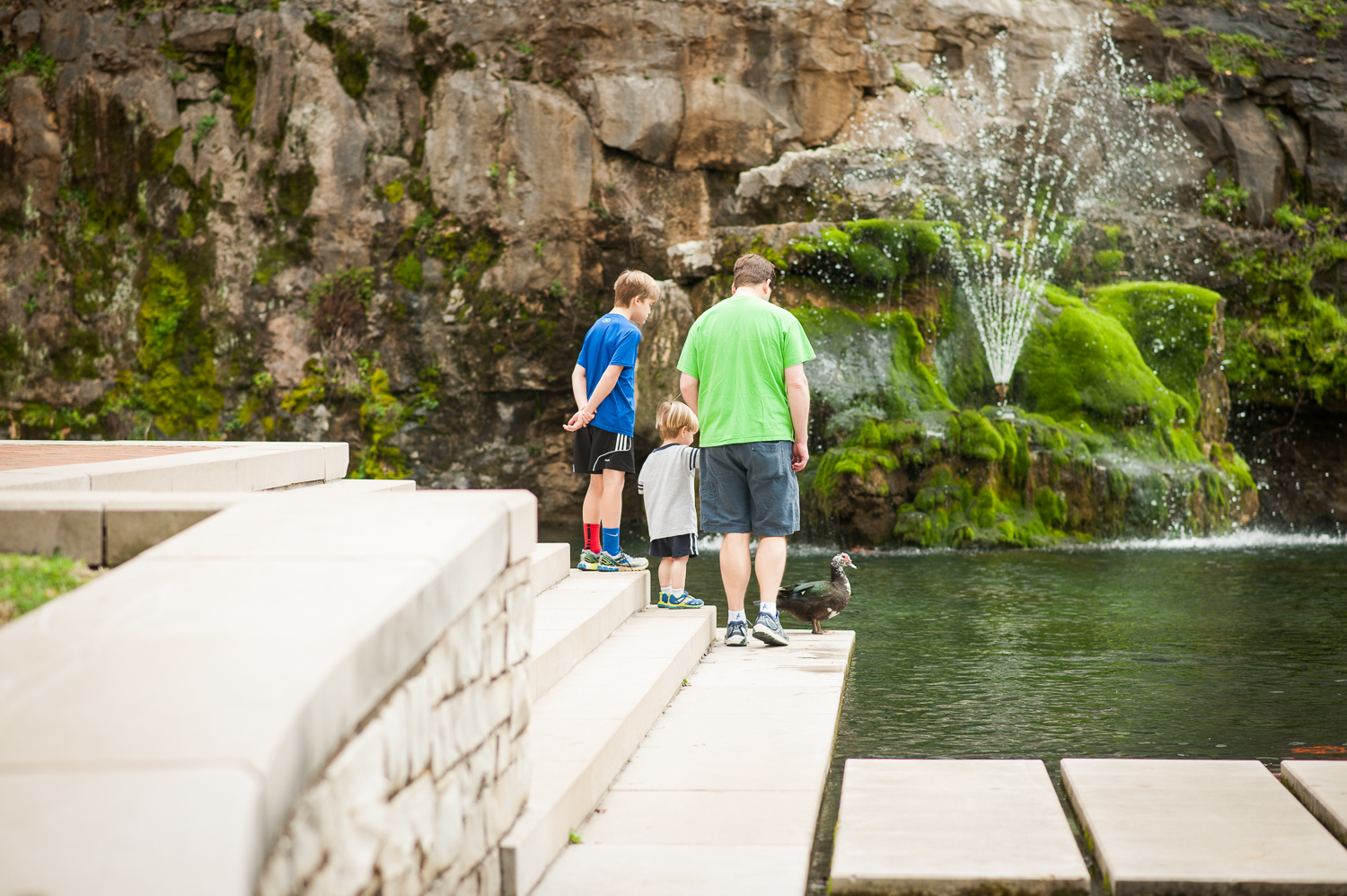 Dad and two sons in park | Huntsville photographer