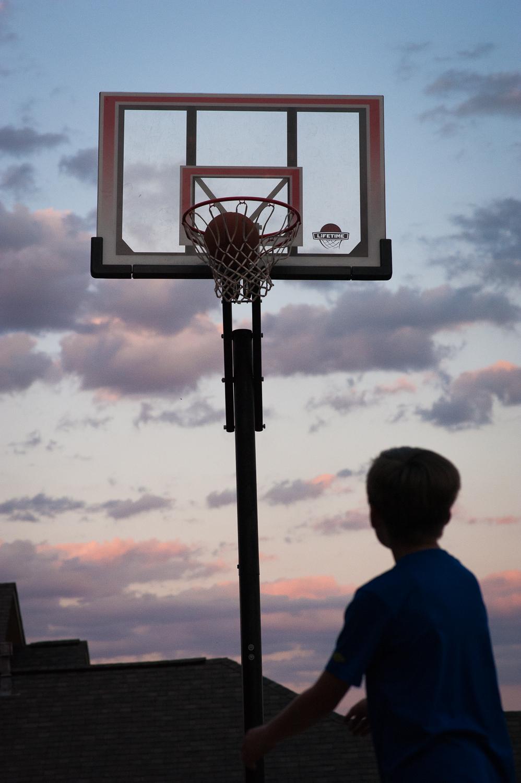 basketball goal at sunset | Huntsville photographer