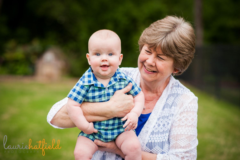 grandmother with baby grandson | Huntsville child photographer