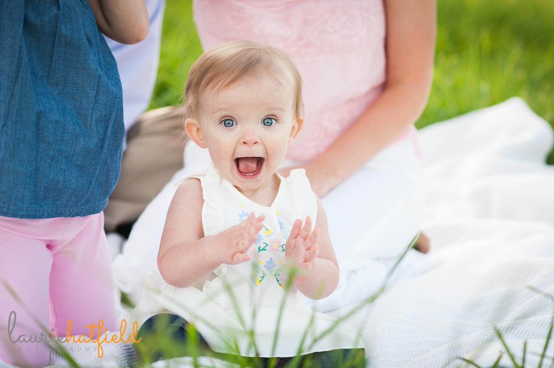 baby girl clapping | Huntsville family photographer