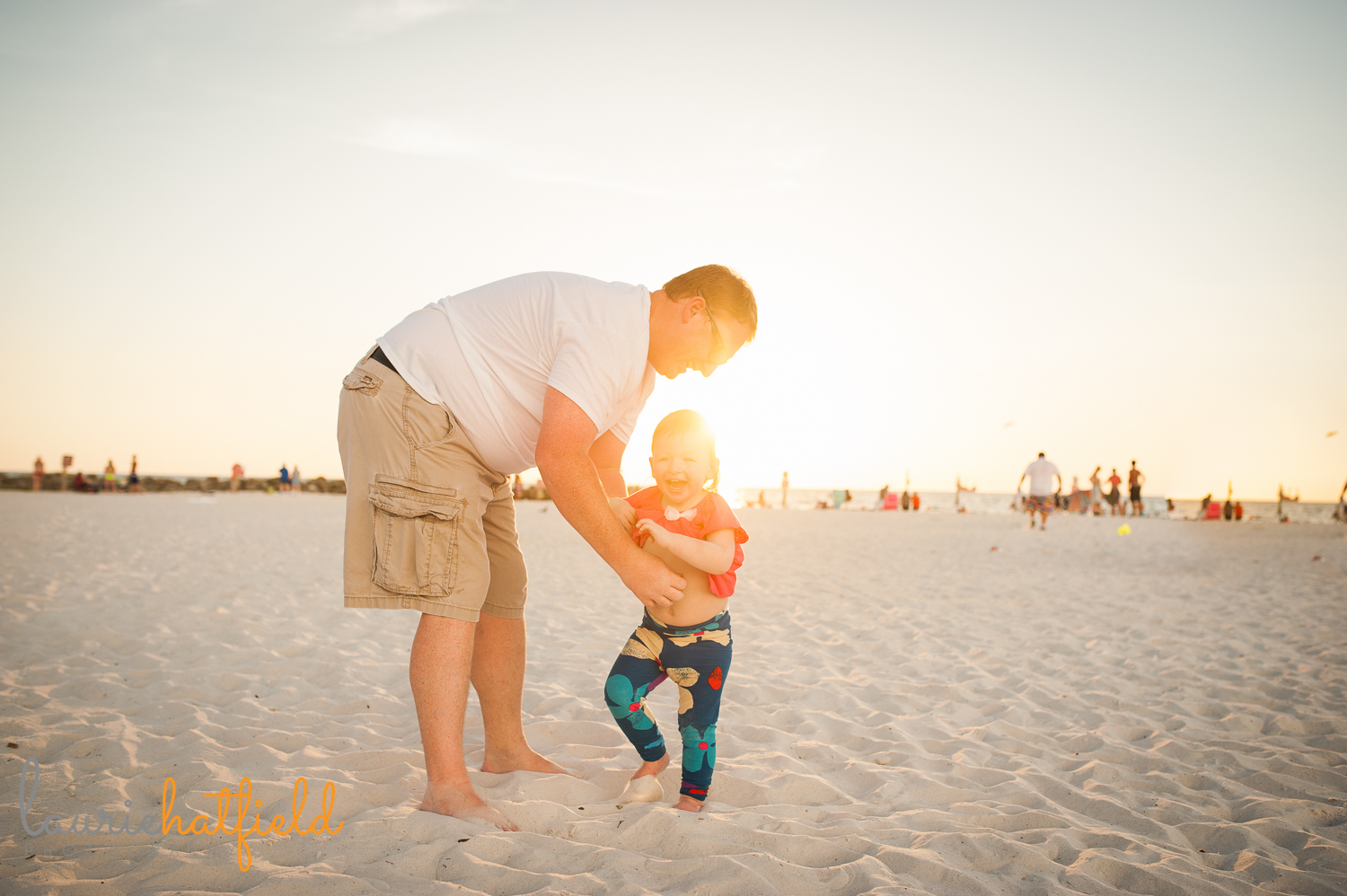 dad and daughter on beach | Huntsville photographer