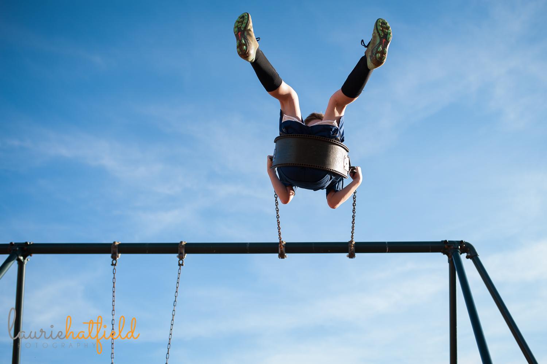 little boy on swing in the sky | Huntsville photographer