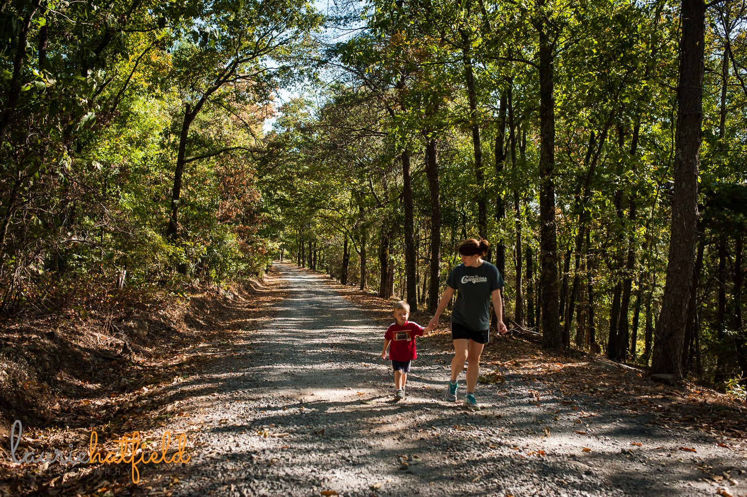 mom hiking with son | Huntsville AL family photography