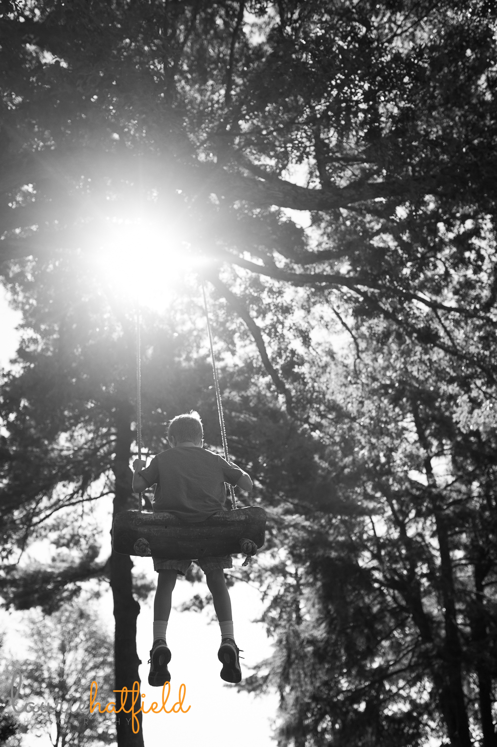 little boy on a swing at Berry College | Huntsville family photography