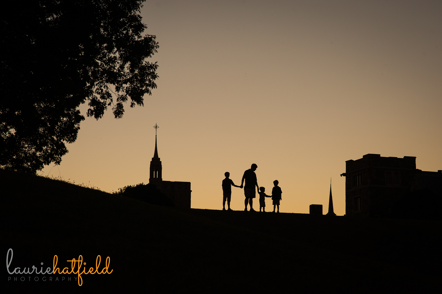 dad and boys at Berry College | Huntsville AL family photography