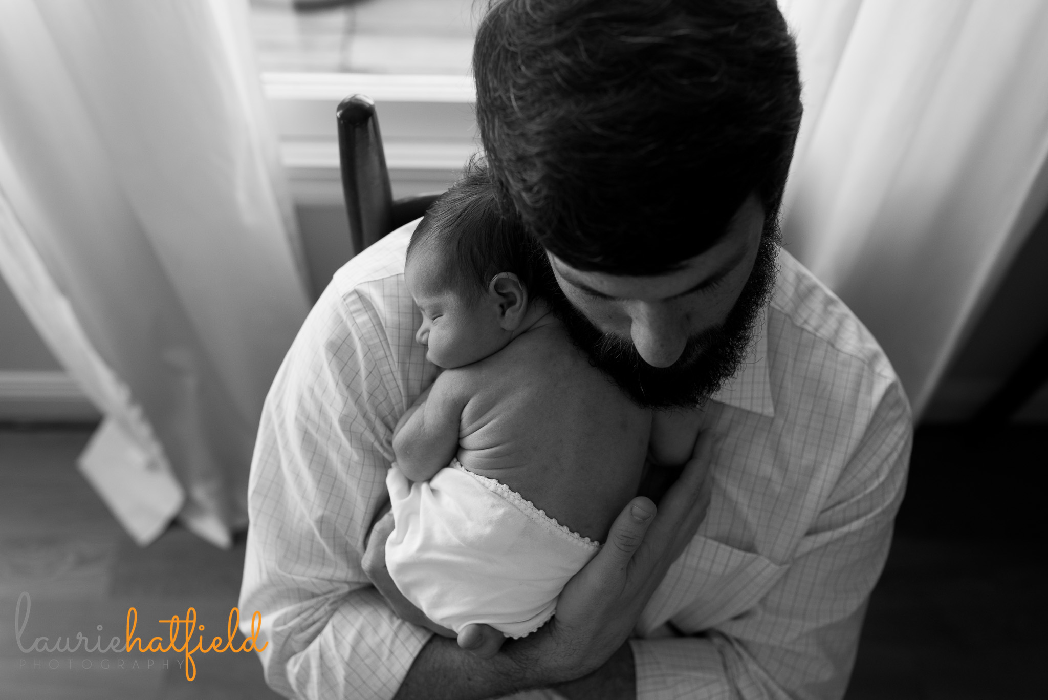 dad with baby boy | Mobile newborn photographer