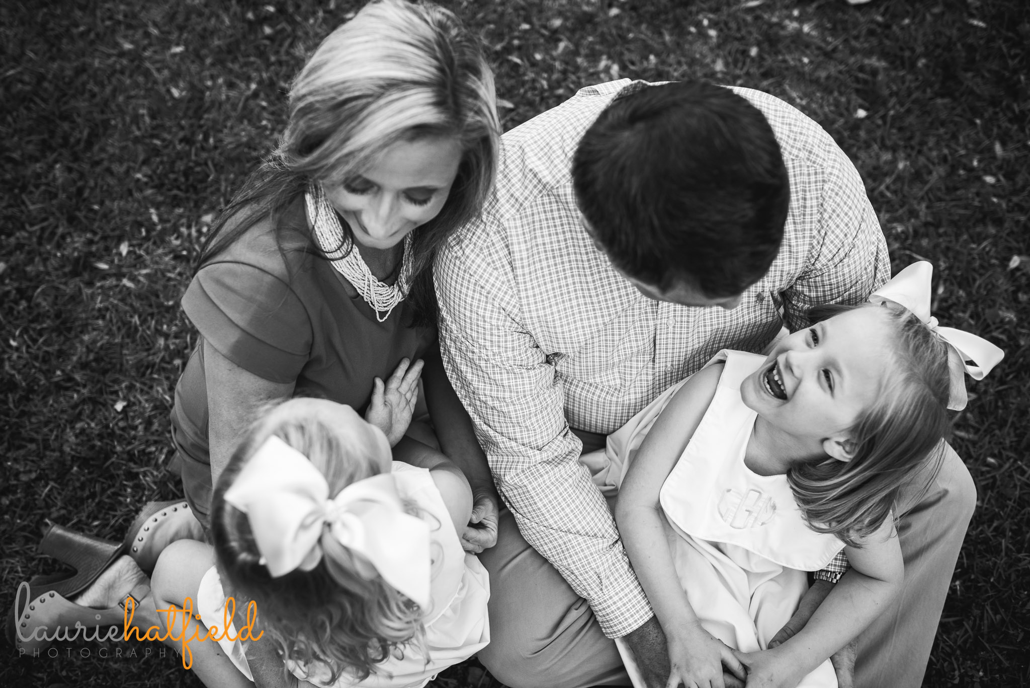 family of four by Mobile AL lifestyle photographer Laurie Hatfield Photography