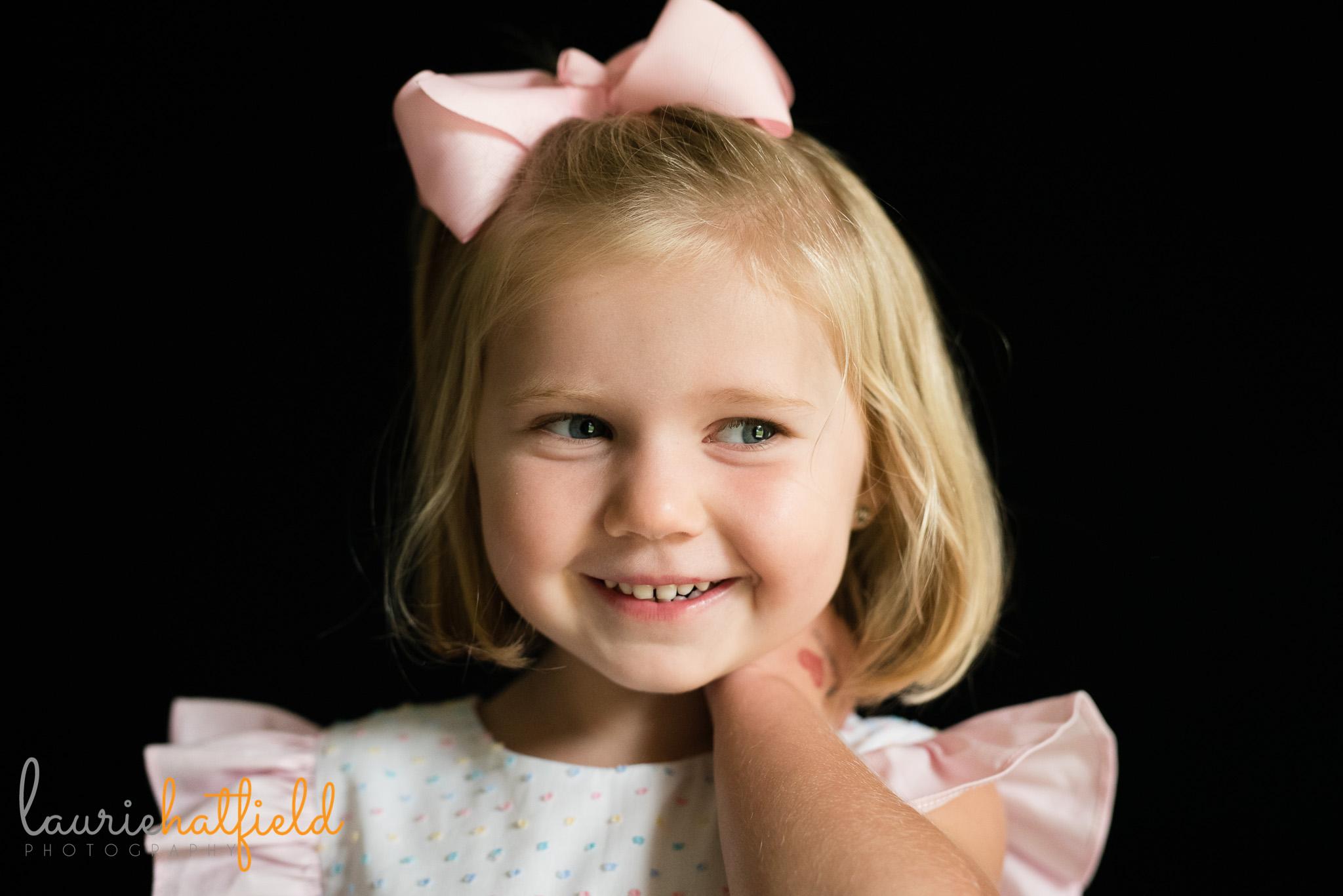 little girl in dress   Mobile AL school photographer
