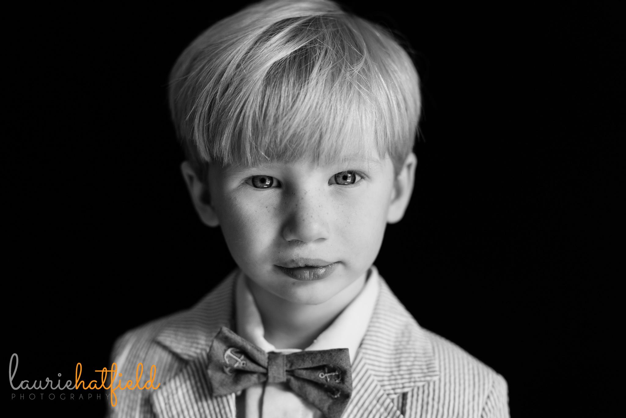 little boy in bow tie   Mobile AL preschool photographer