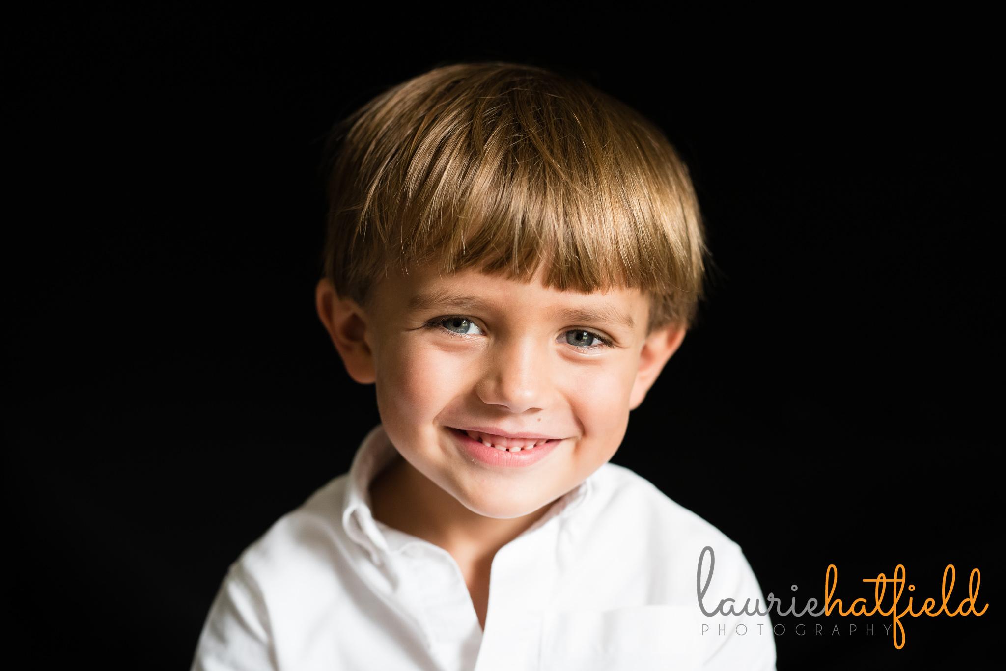 5 year old boy school portrait | Mobile AL preschool photographer