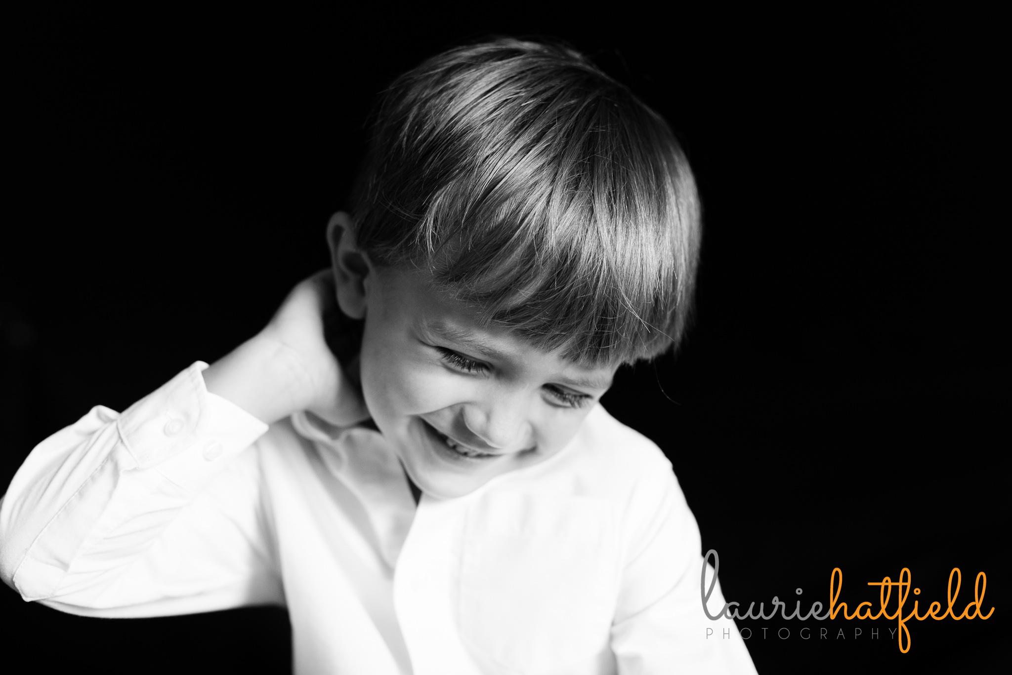 5 year old boy portrait | Mobile AL preschool photographer