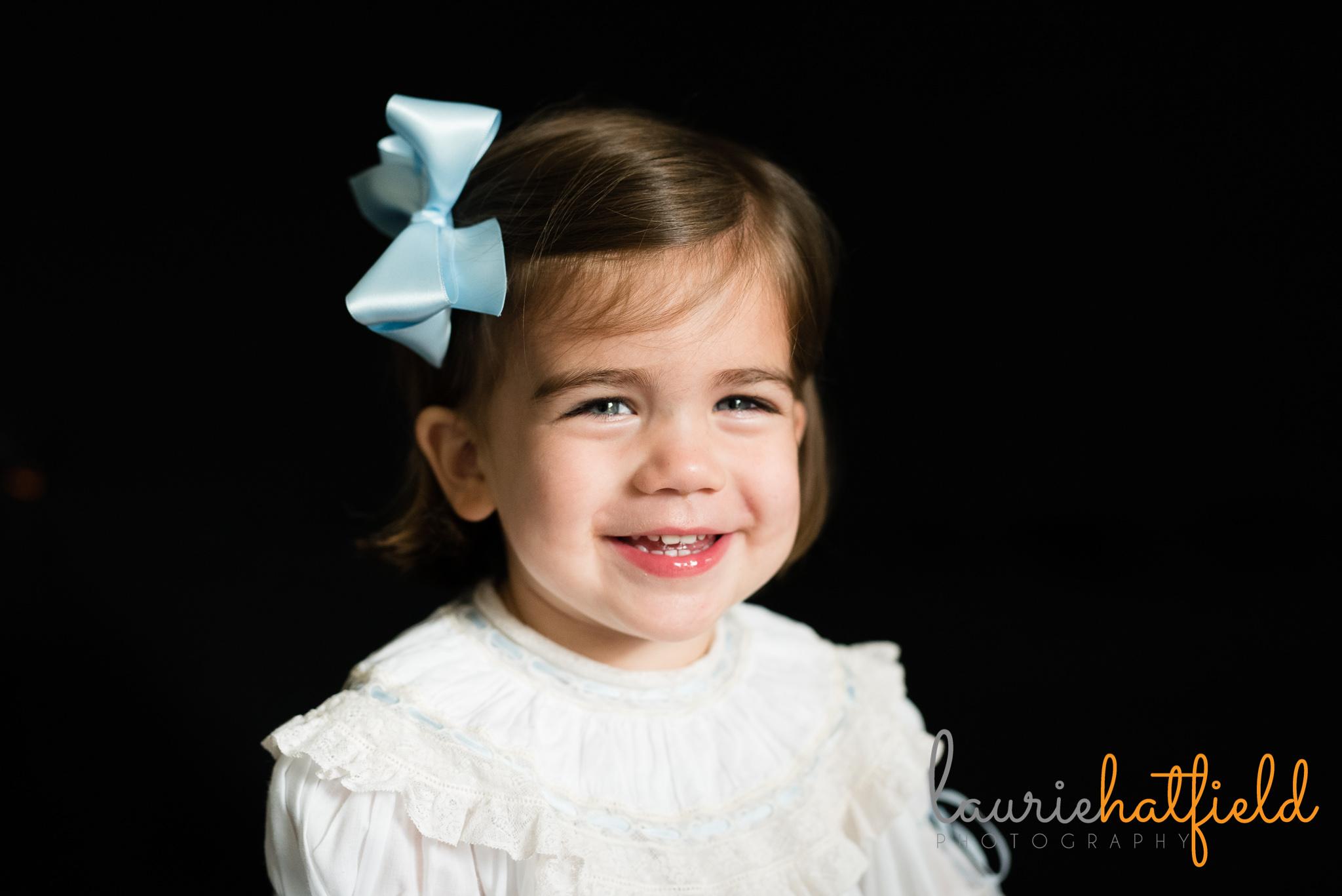 baby girl's school portrait | Mobile AL preschool photographer
