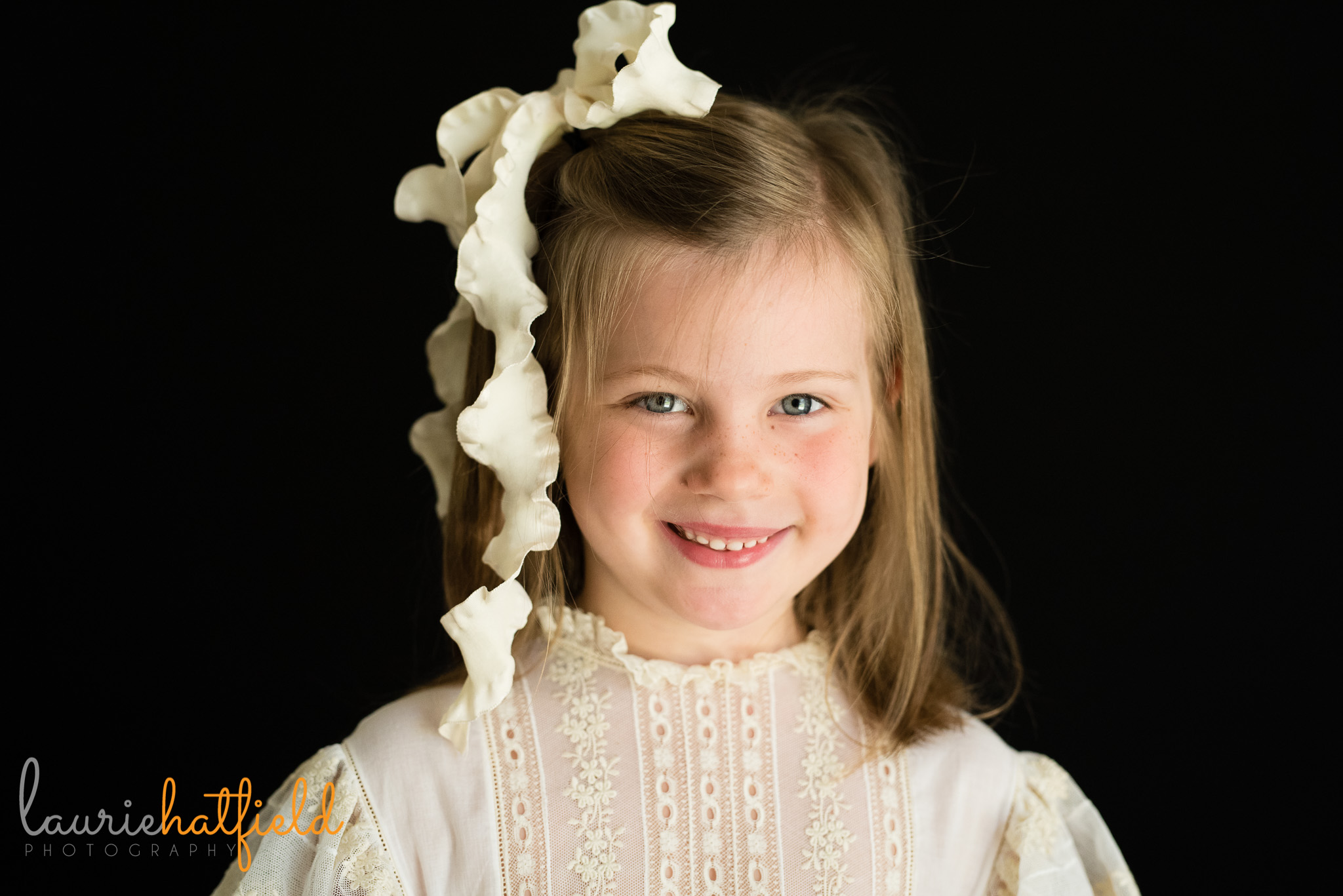 5-year-old girl school portrait | Mobile AL preschool photographer