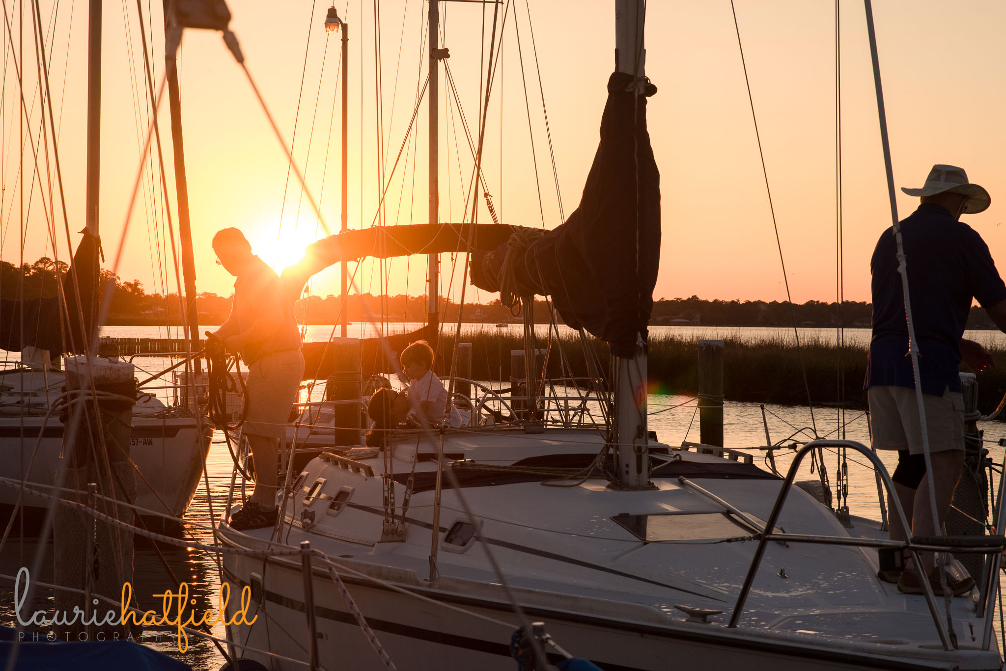 sailboat at sunset | Mobile AL family photographer