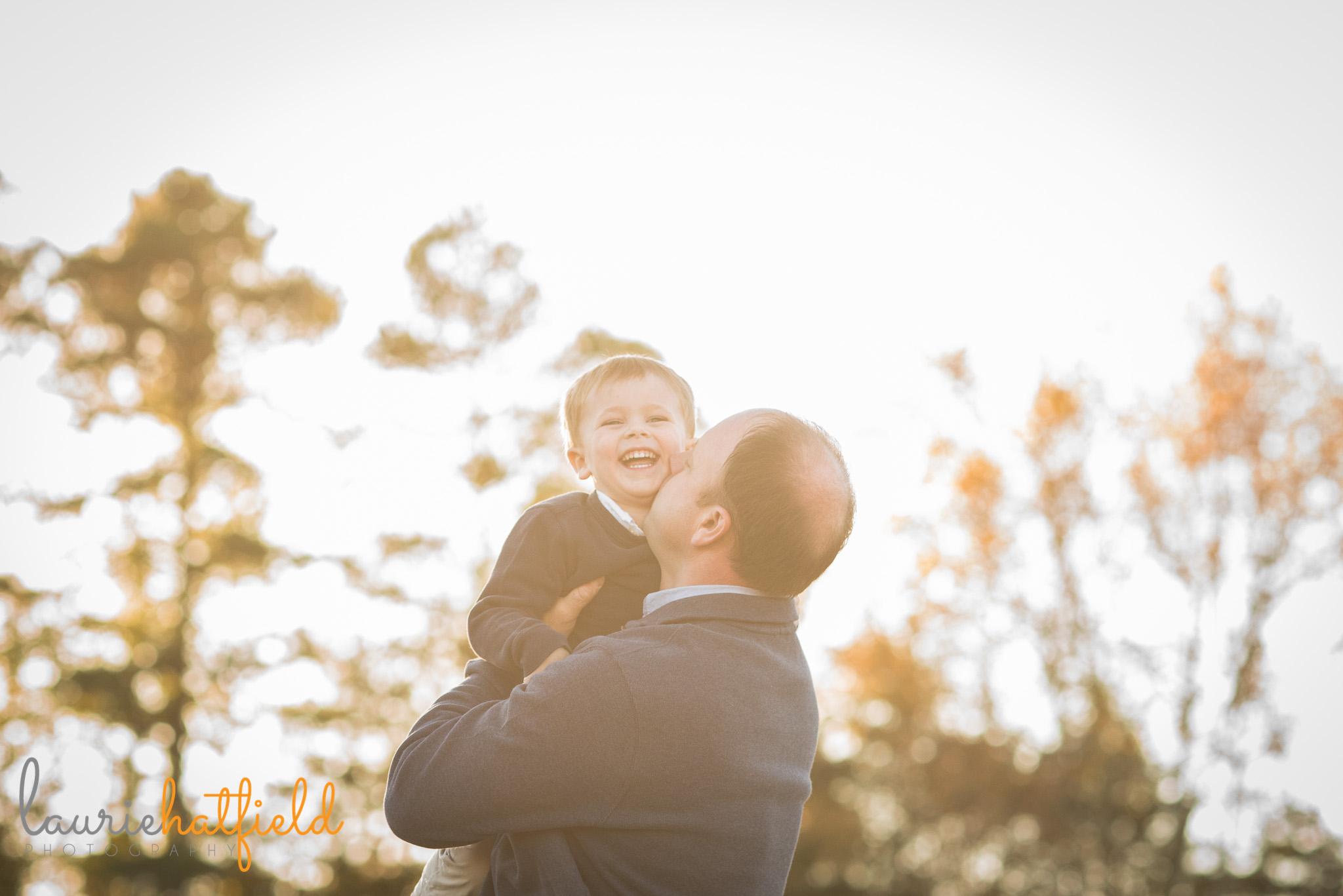 dad kissing son | Mobile AL family photographer