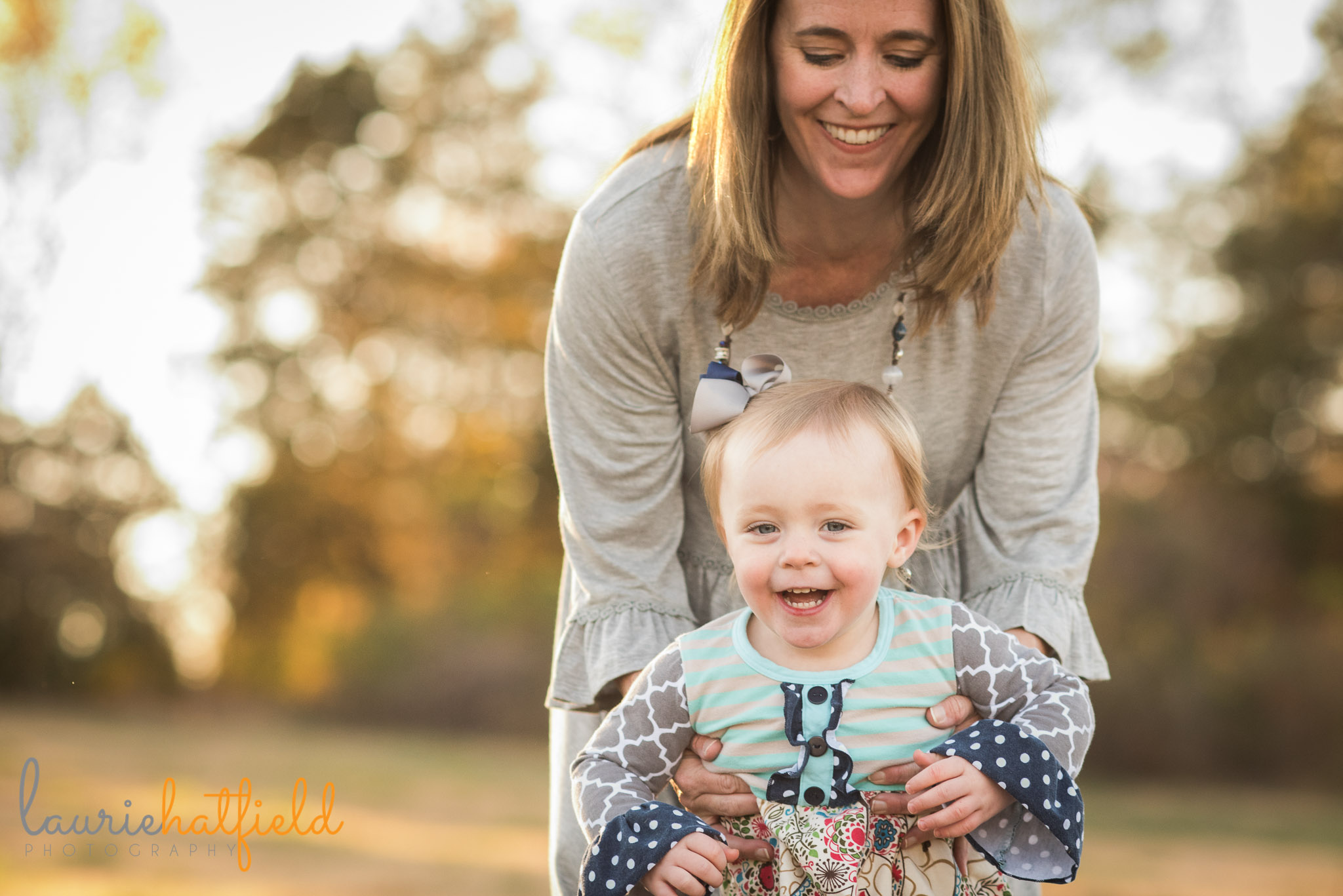 mom and one-year-old daughter | Mobile AL family photographer