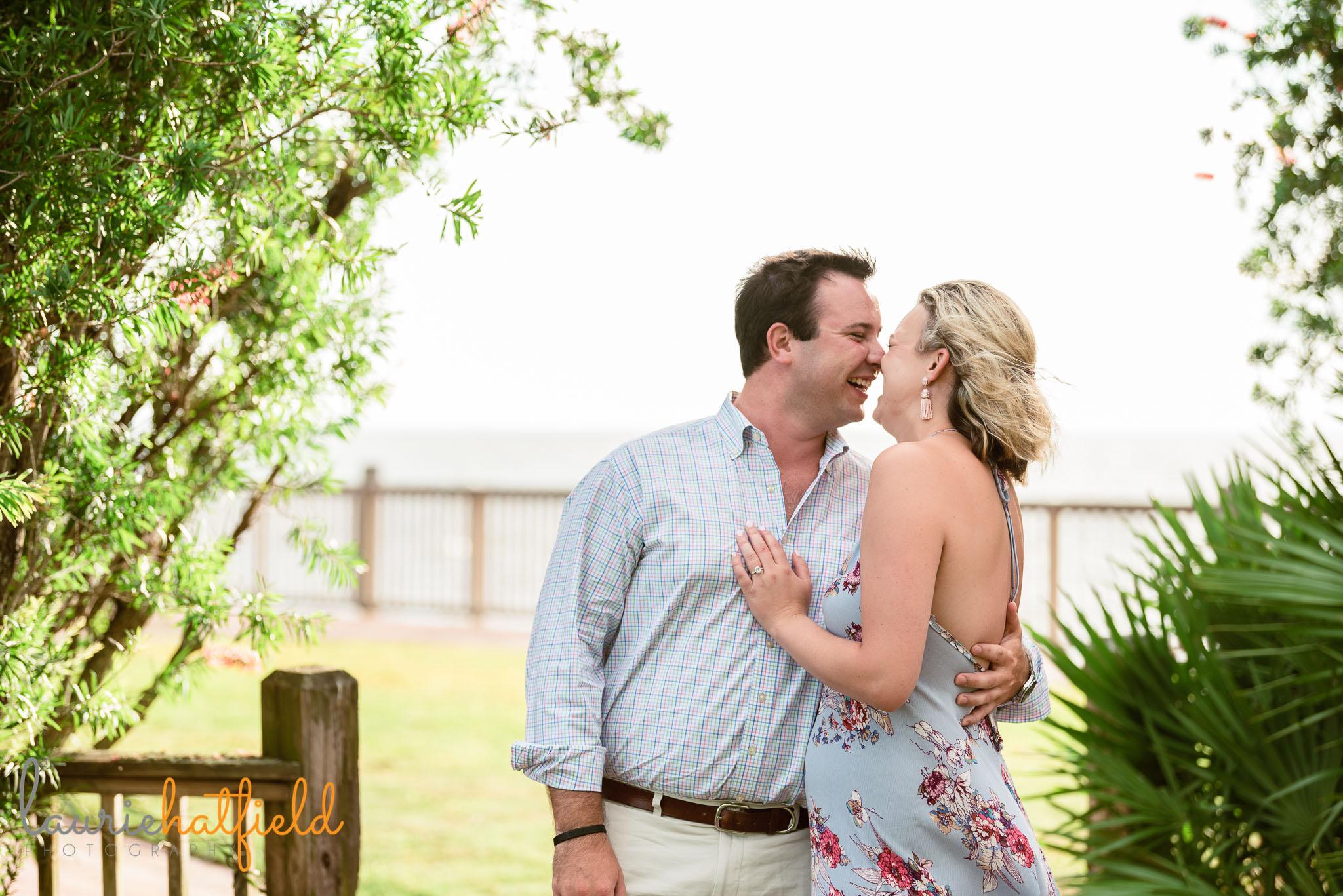 couple newly engaged | Fairhope AL proposal photographer