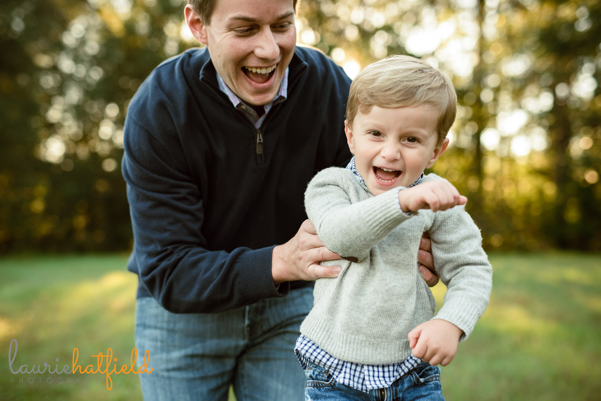 dad and 3-year-old son | Mobile AL family photographer