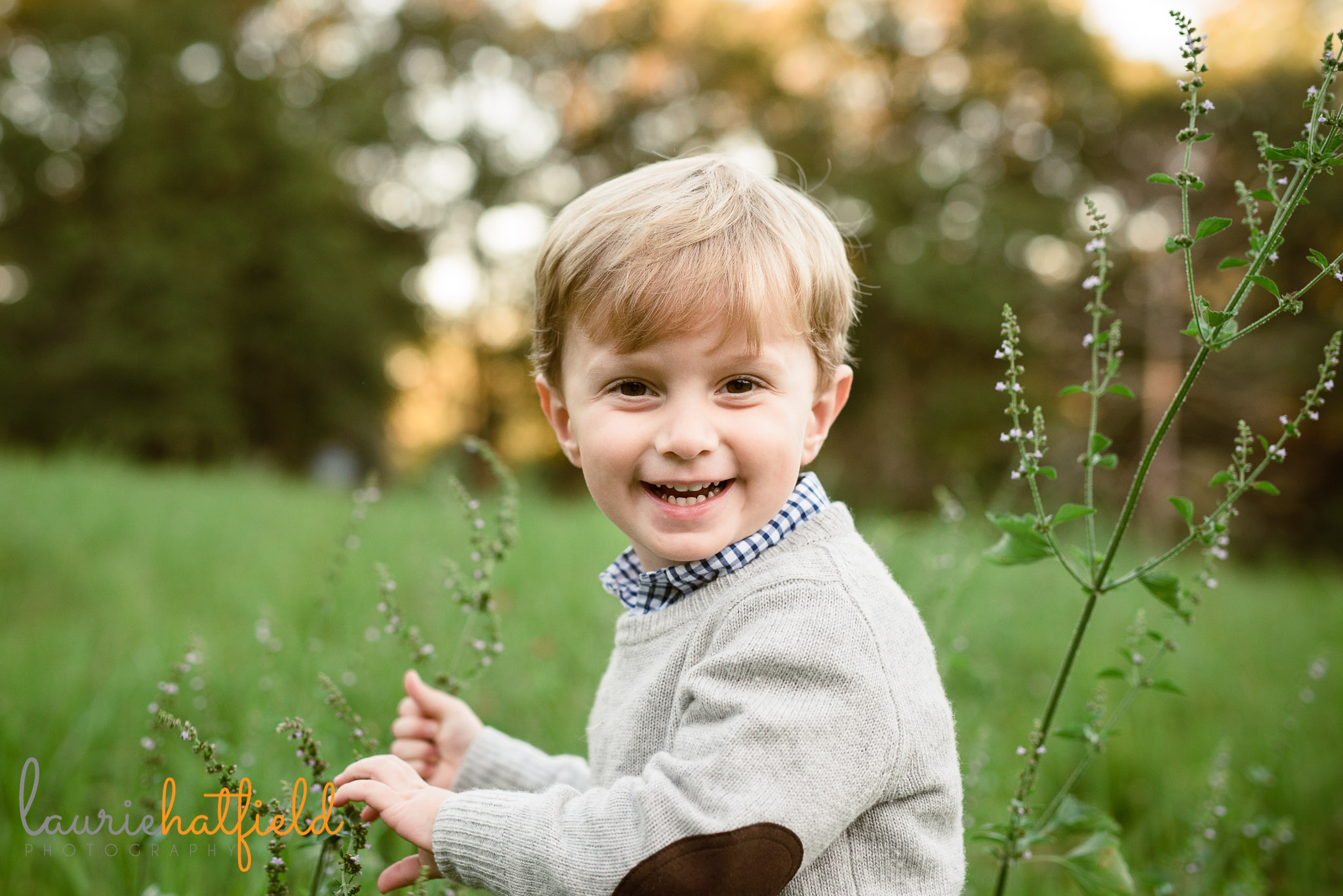 3-year-old boy in field | Mobile AL child photographer