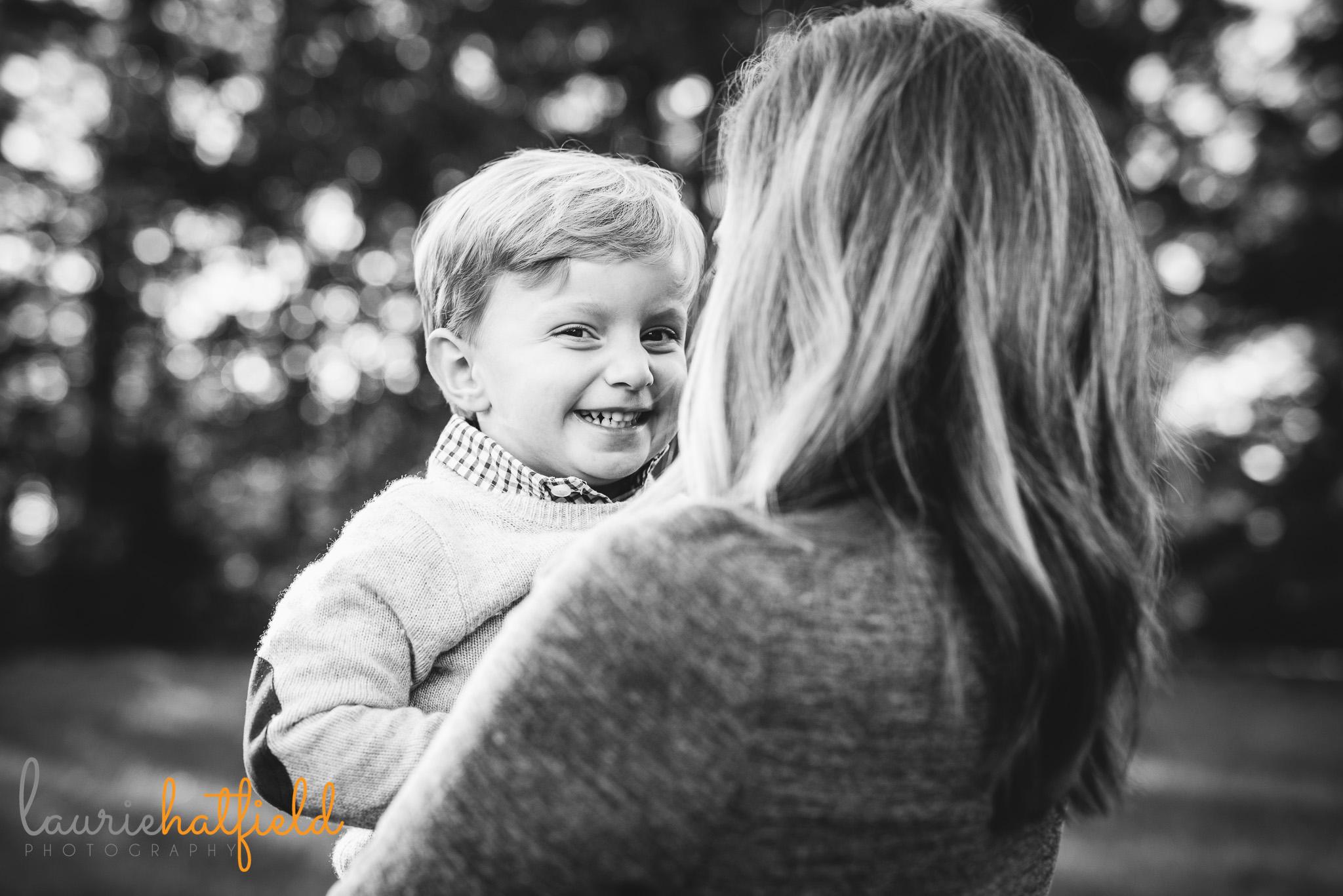 mom holding little boy | Mobile AL family photographer