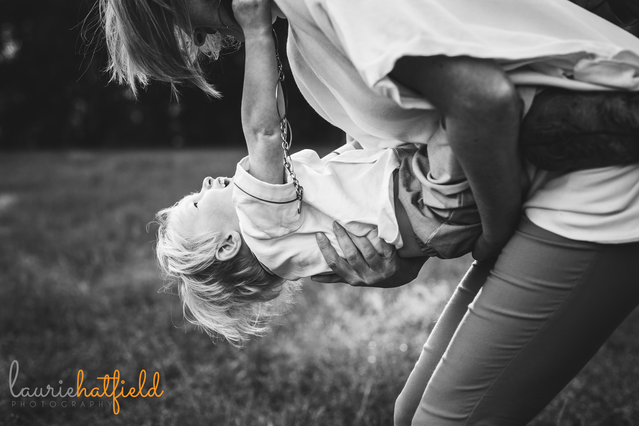 mom playing with little boy | Mobile AL family photographer