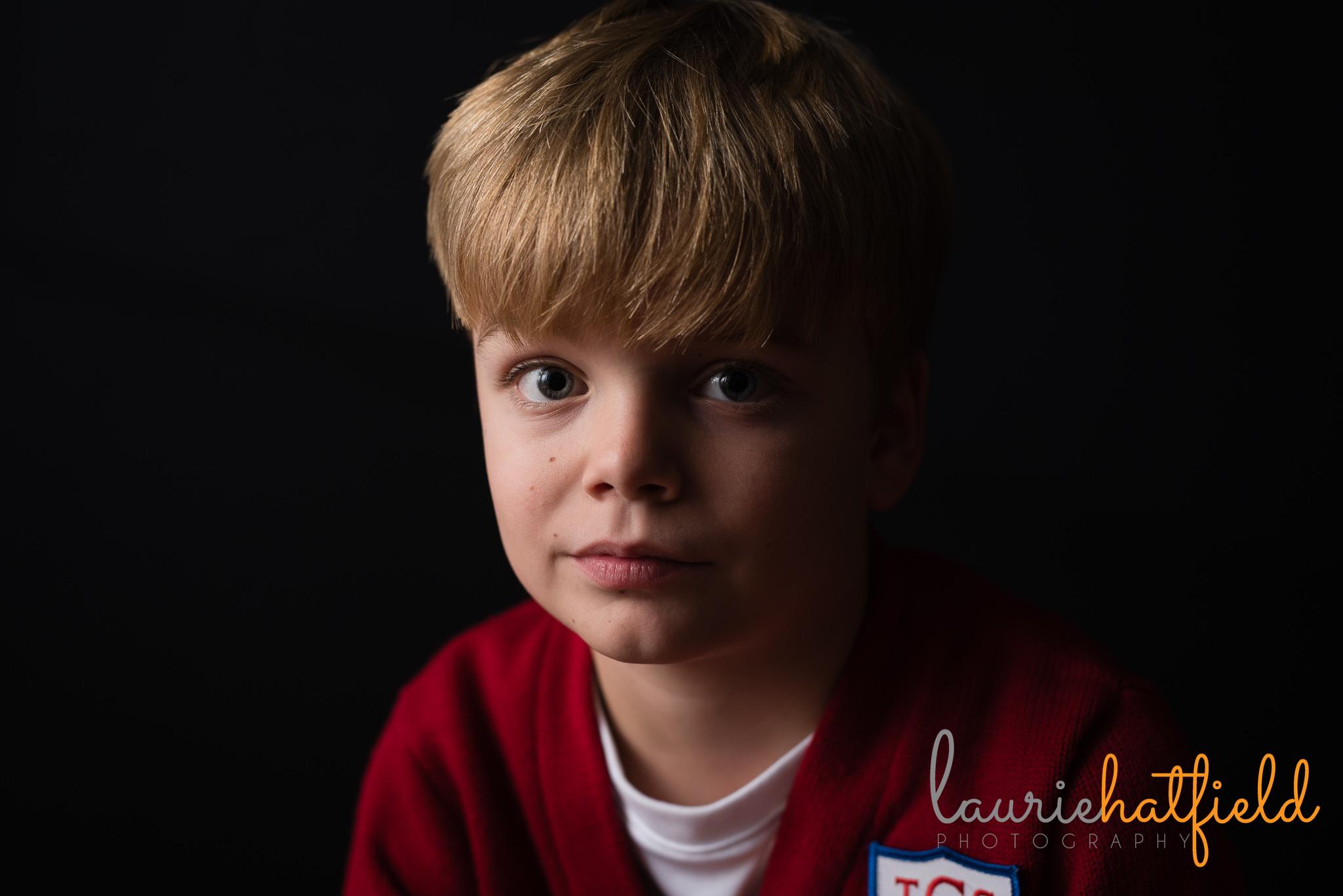 3rd grade boy portrait | Mobile AL school photographer