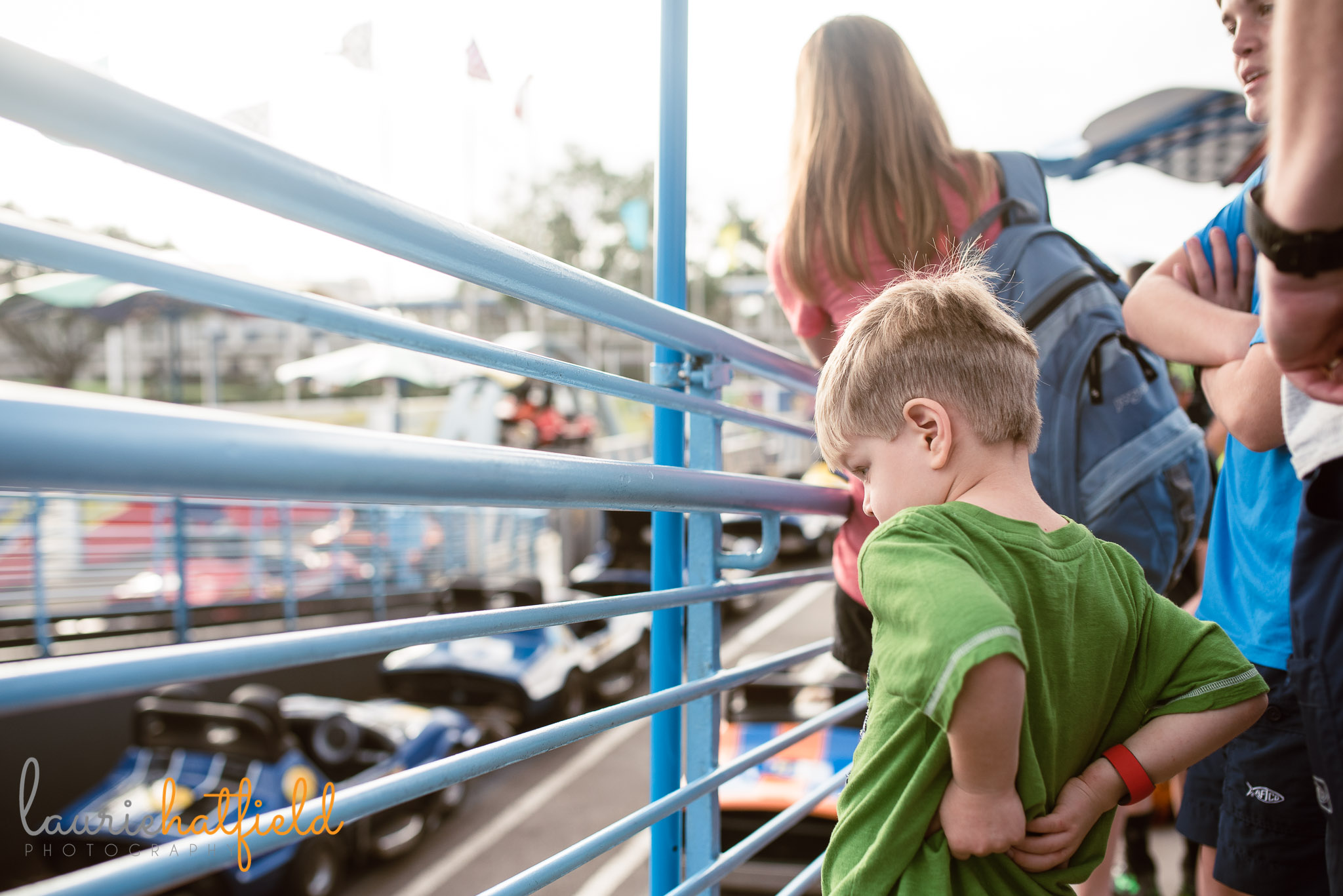 4-year-old at Tomorrowland Speedway | Daphne AL family photographer