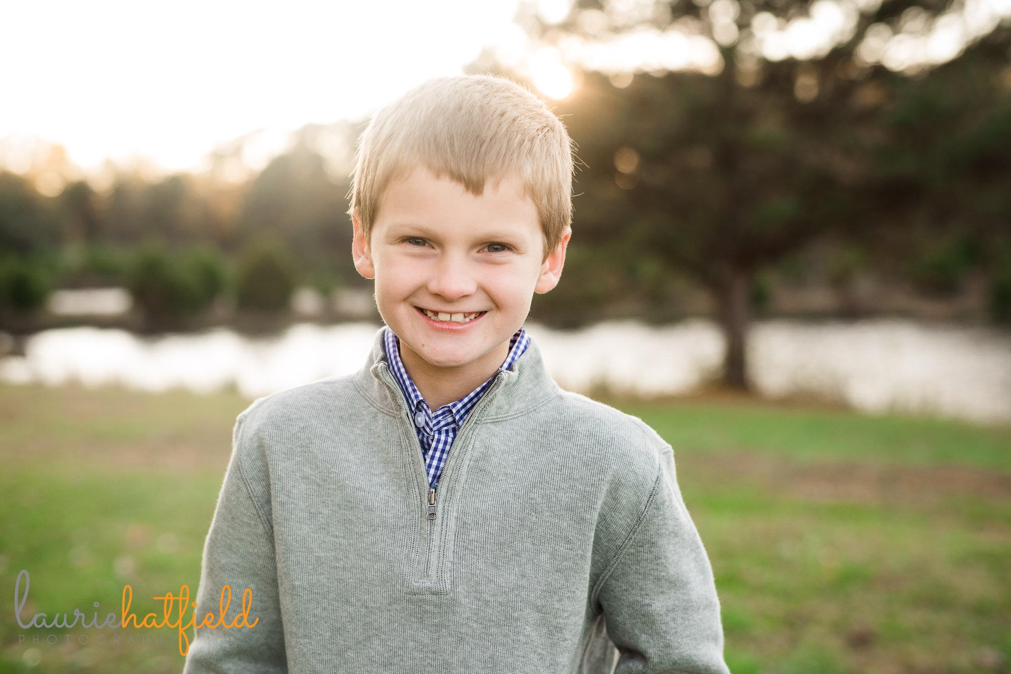 portrait of 8-year-old boy | Mobile AL school photographer