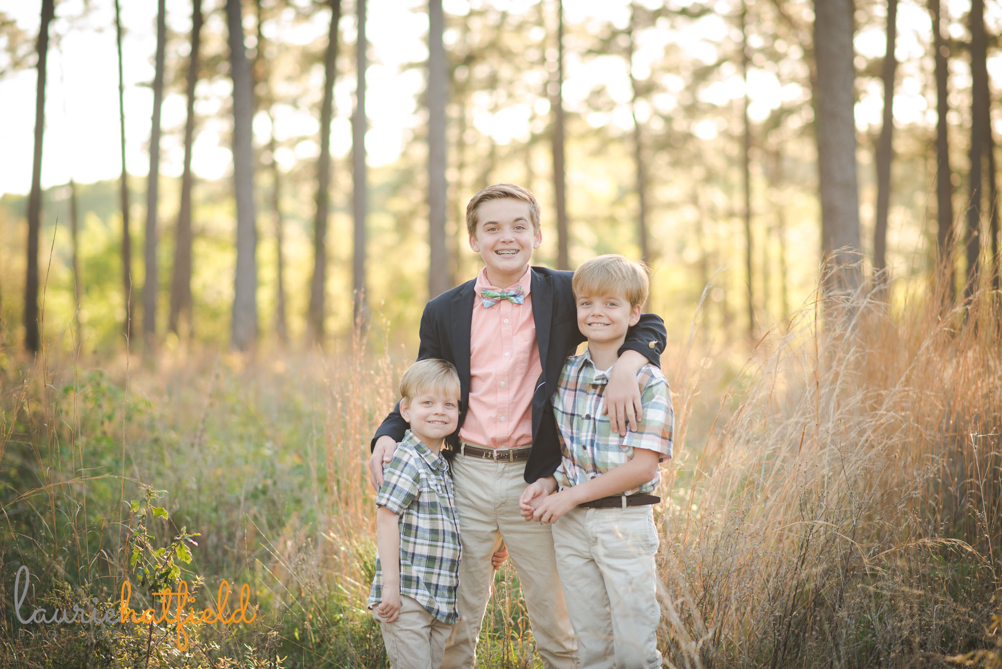 three brothers in field | Mobile AL family photographer
