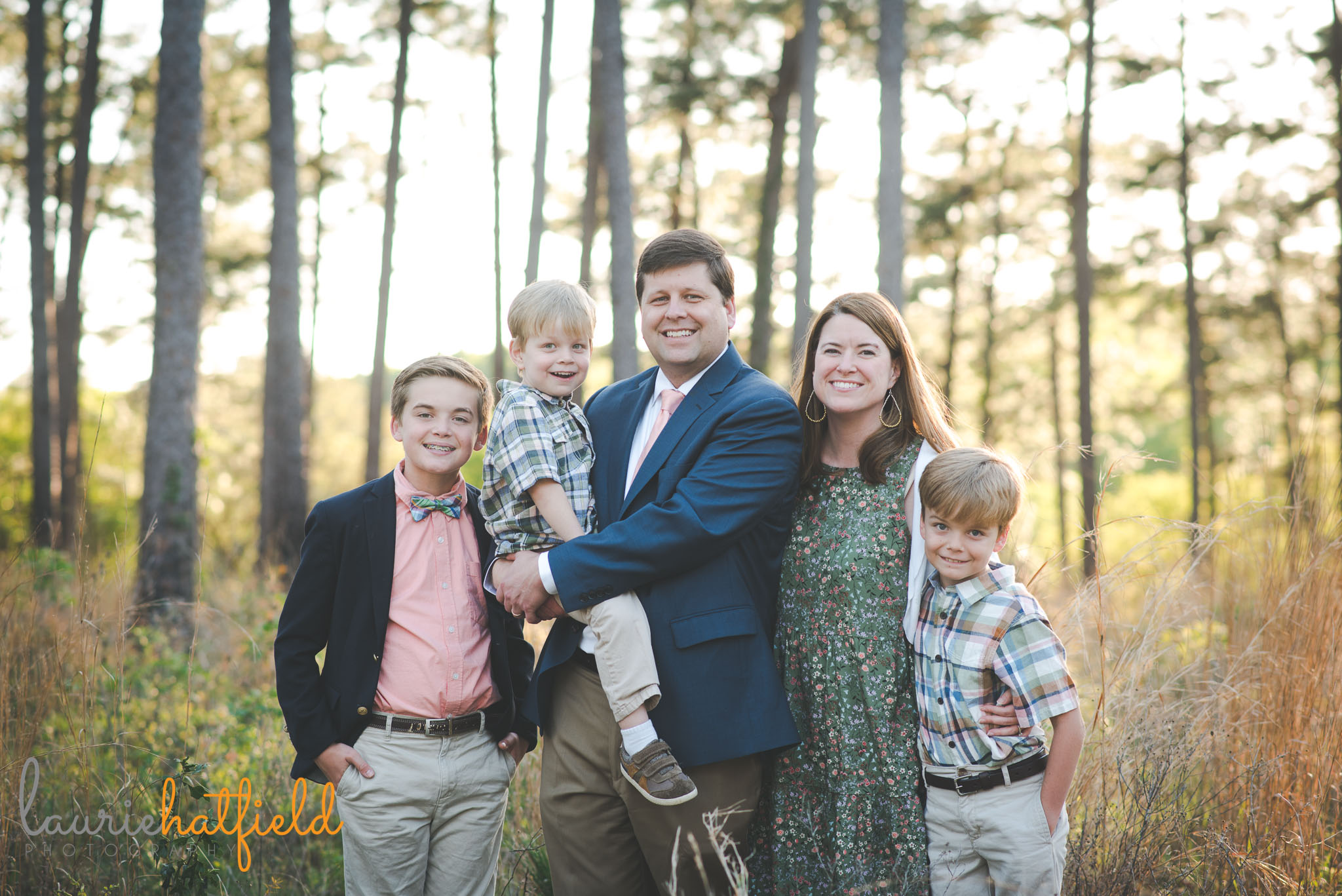 family of five in field | Mobile AL lifestyle photography