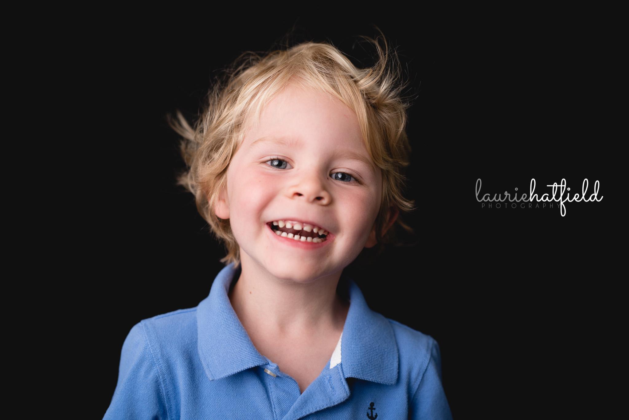 blond boy laughing   Daphne AL school photographer