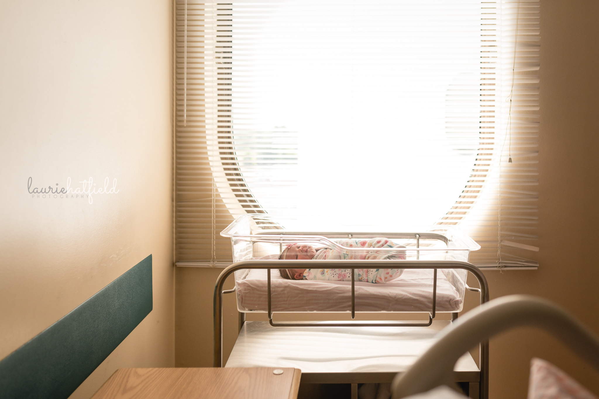 newborn baby in hospital room | Fresh 48 photo session Mobile AL