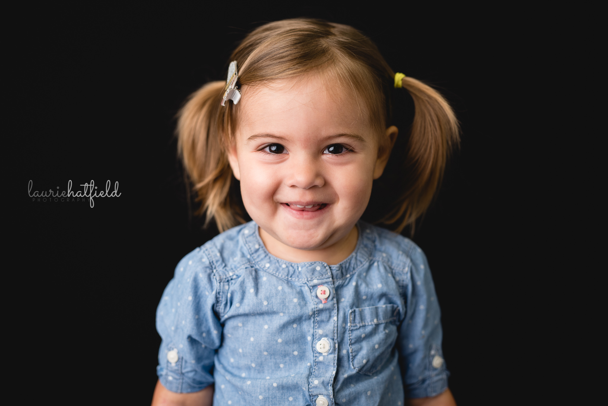 little girl with pigtails | Mobile AL preschool photographer