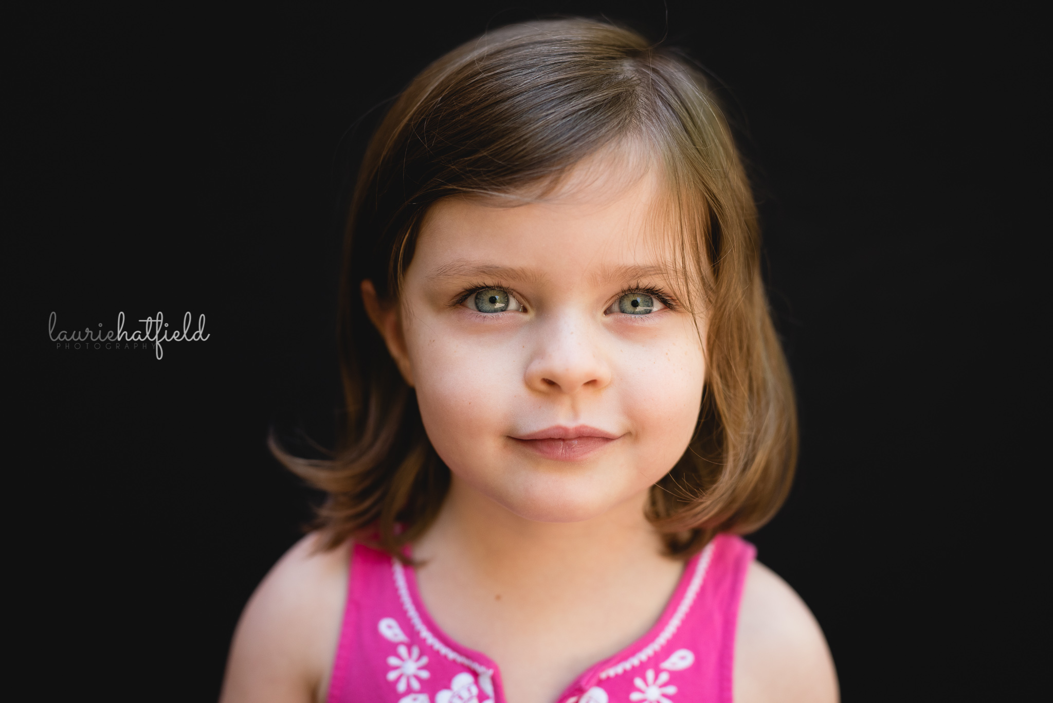 3-year-old girl with pink dress | Mobile AL school photos