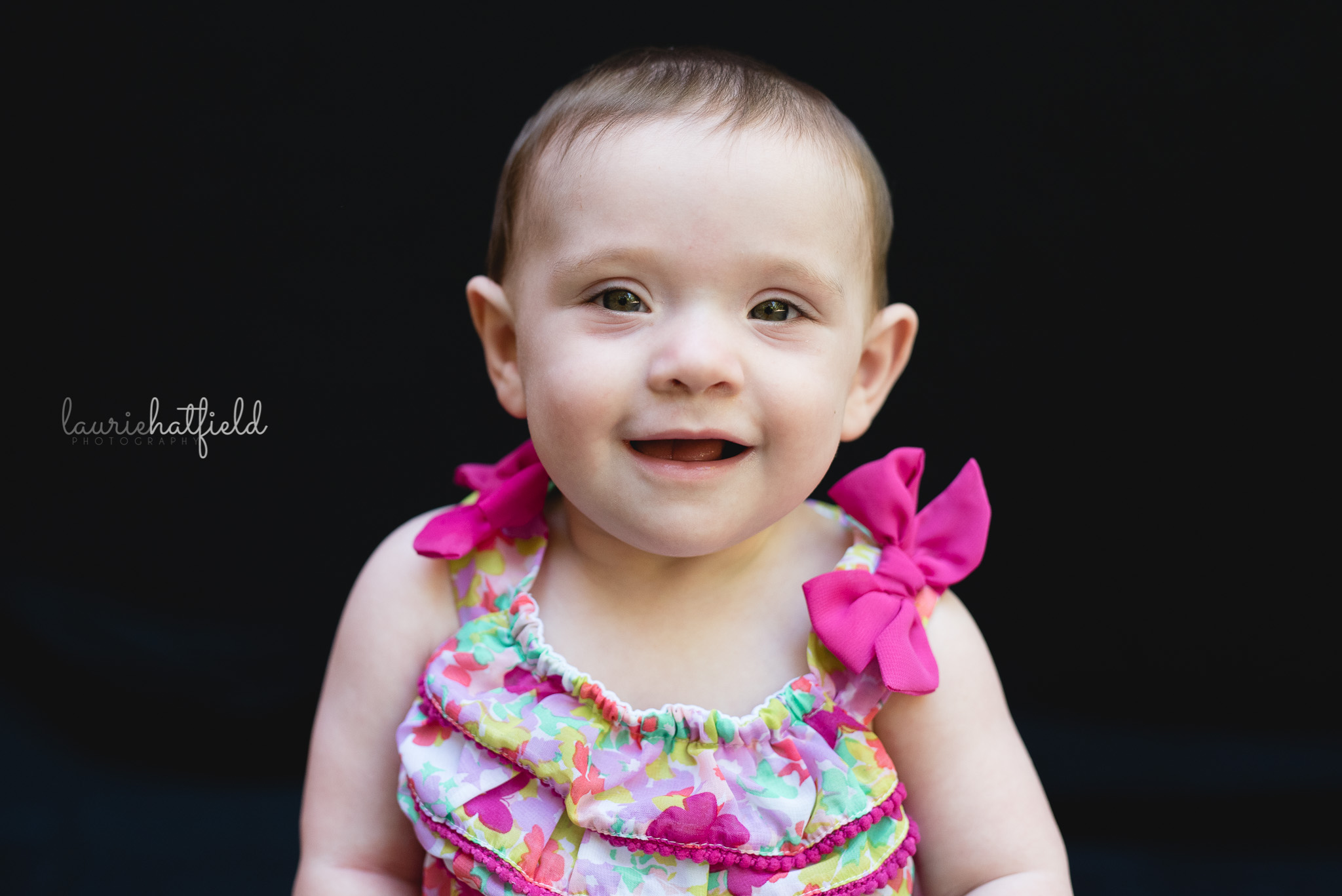 baby girl with brown hair | Mobile AL school photography