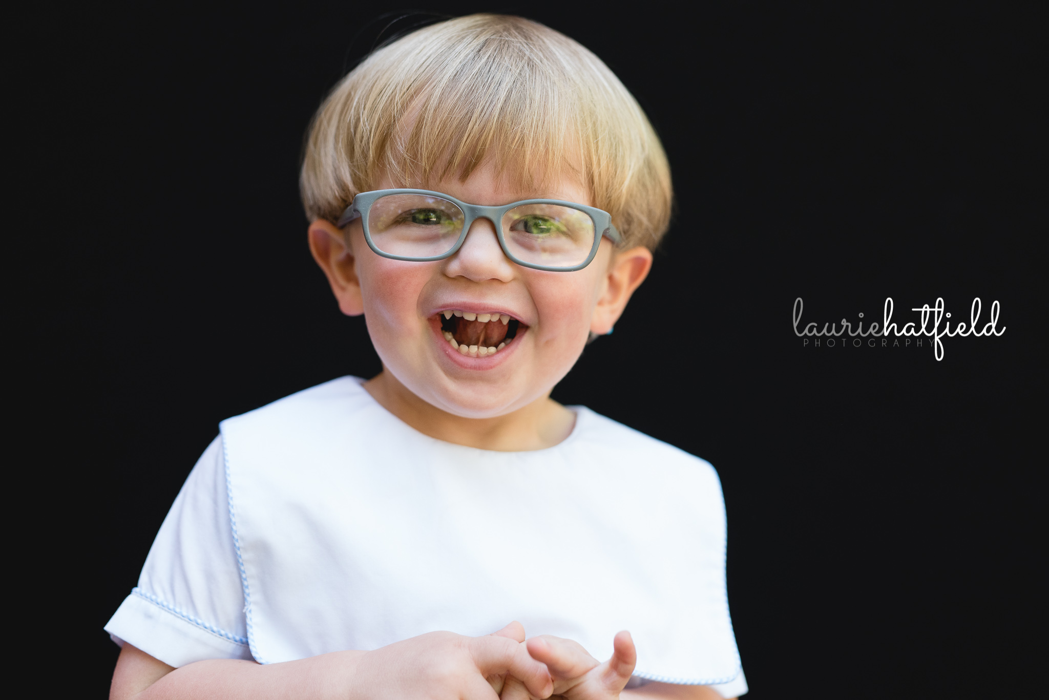 little boy with glasses | school portraits in Mobile Alabama