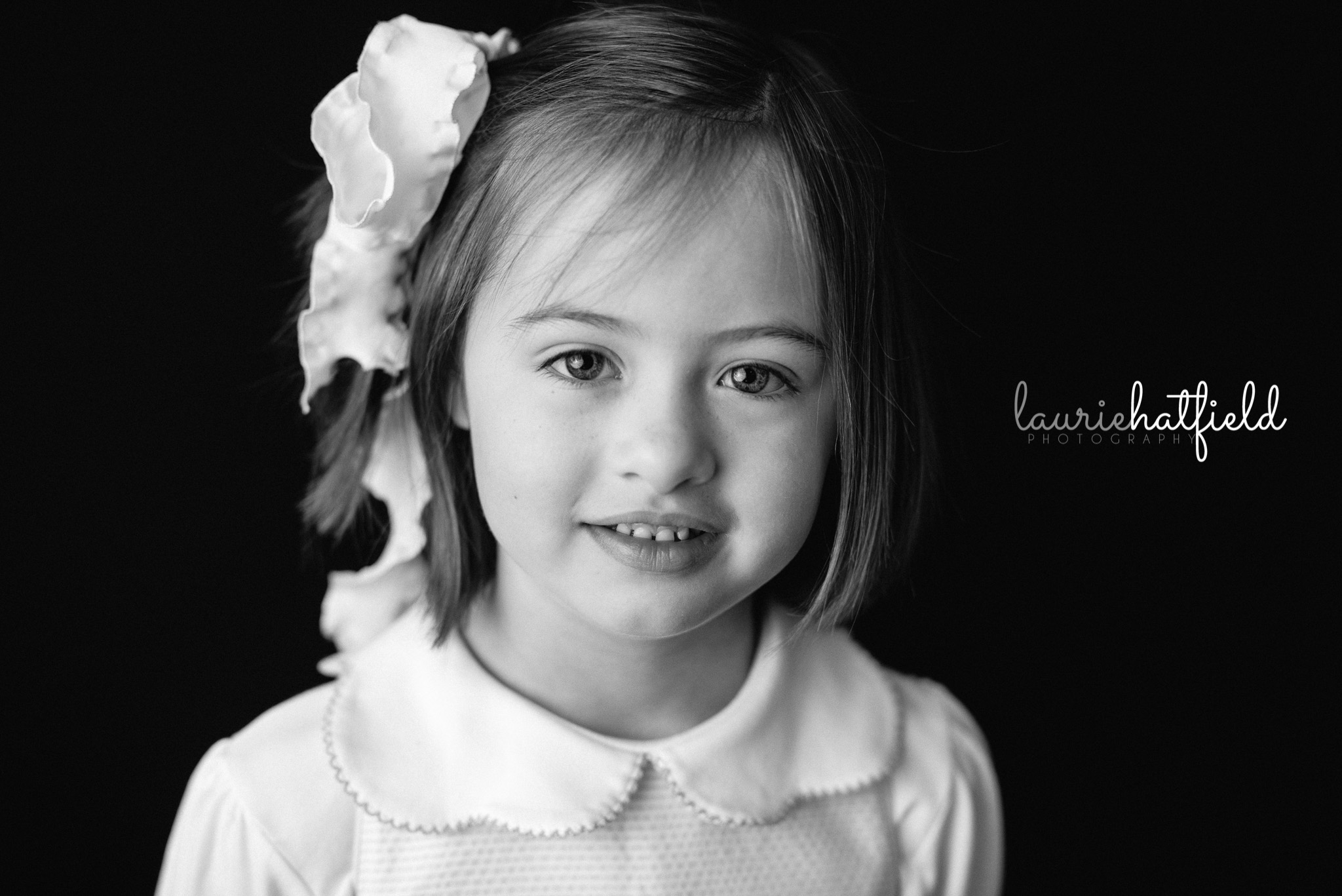 little girl with brown hair | Mobile AL preschool photography
