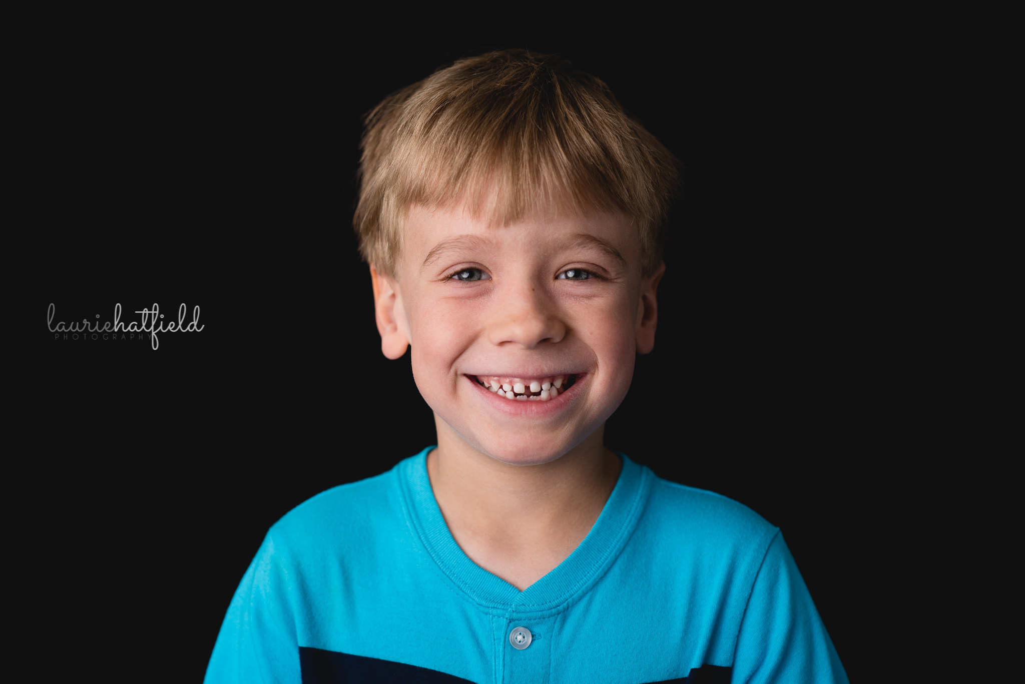 3-year-old boy with blond hair | Pensacola FL school photographer