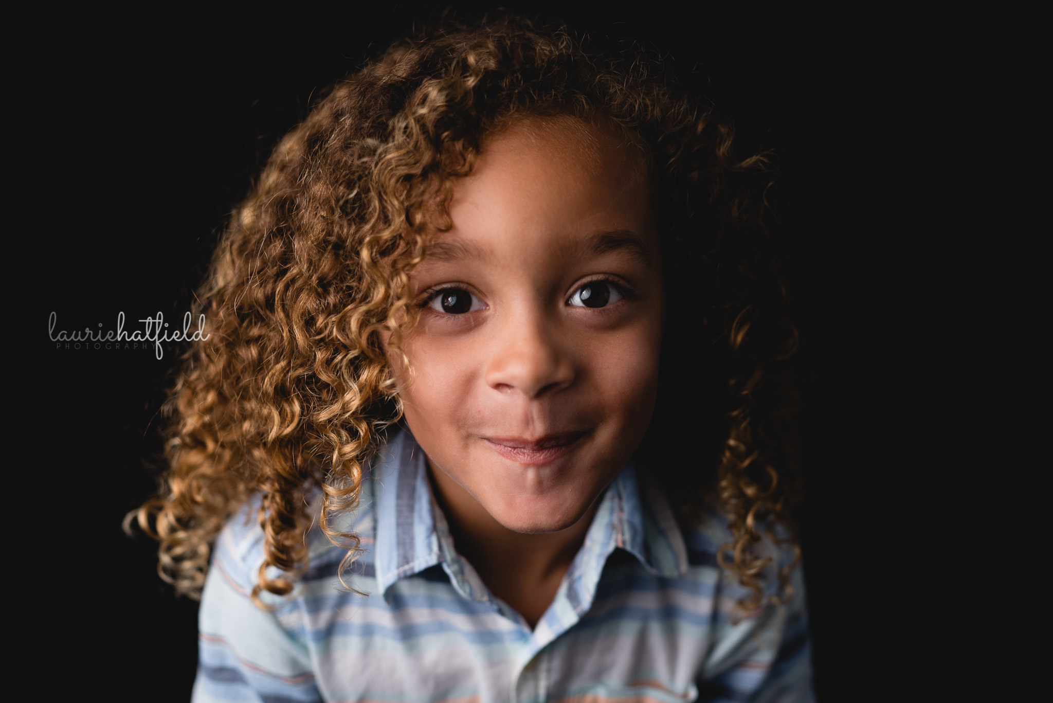 little boy with curly hair | Mobile AL school photos