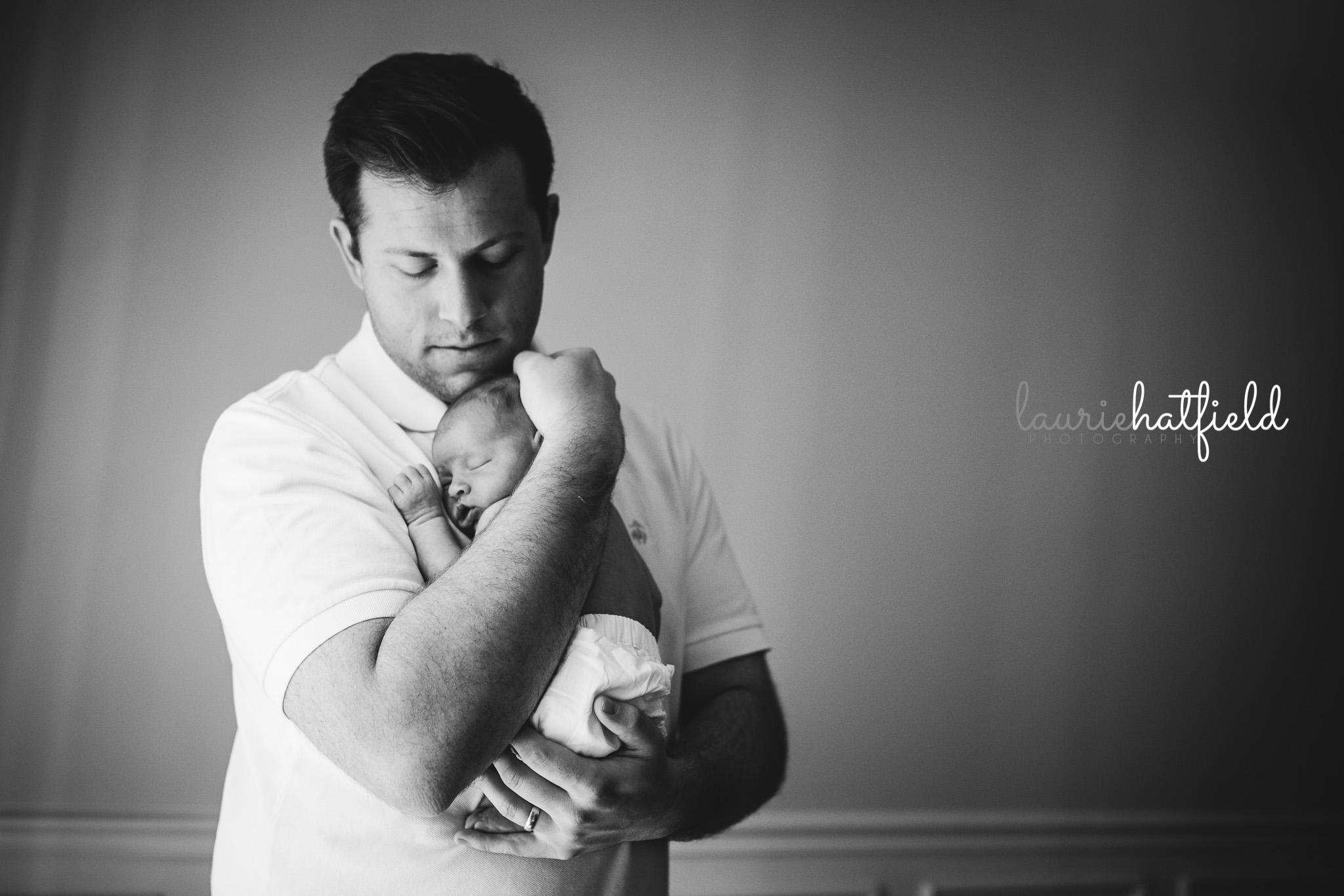 dad with new baby girl | Fairhope AL newborn photographer